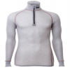 Wool Thermo Light Zip Polo 3/4 Kragen Light grey