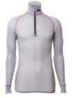 Wool Thermo Light Zip Polo 3/4 Kragen
