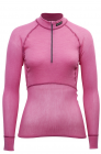 Lady Wool Thermo Light Zip-Polo Pink