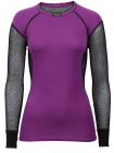 Lady Wool Thermo Shirt Black/Violet