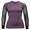 Lady Wool Thermo Shirt Black/Purple
