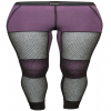 Lady Wool Thermo Hose Lang Black/Purple