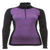 Lady Arctic Double Zip-Polo Black/Purple