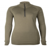 Lady Arctic Double Zip-Polo mit 3/4 Kragen Olive