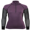 Lady Wool Thermo Zip-Polo Black/Purple