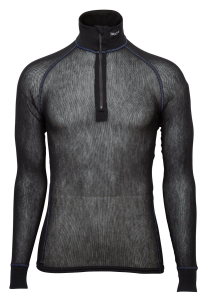 Wool Thermo Light Zip Polo 3/4 Neck