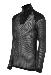 Wool Thermo Zip-Polo mit Schultereinlage